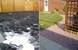 see images of our work compared to before