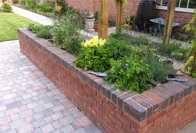 sleepers and raised beds by Hartley Landscapes